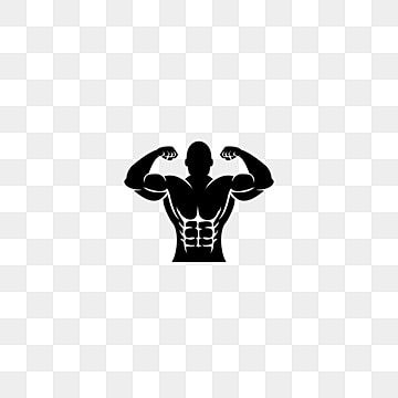 Fitness Logo Template Badge Shield Frame Muscle Body Man S Silhouette Gym Logo Training Vector Icon Bodybuilding Logo Gym Icon Badge Icon