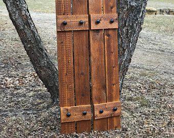 Wood Shutters Rustic Exterior Cedar Shutters Stain Samples