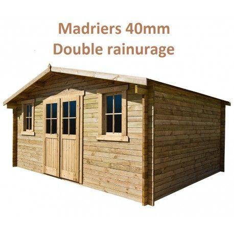 Abri De Jardin 16m Plus En Bois 40mm Traite Teinte Marron Gardy Shelter Abri Bois Toiture En Bois Et Abri De Jardin