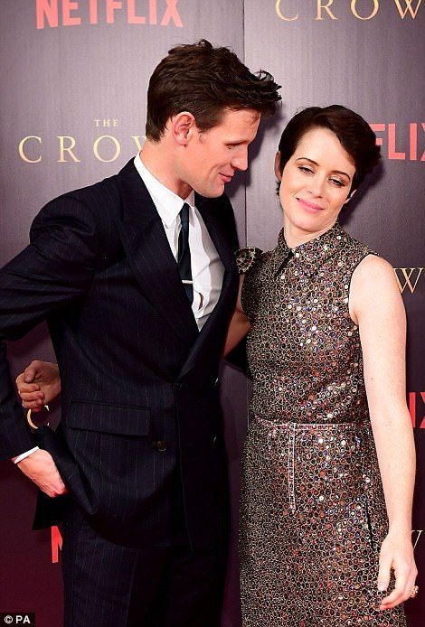 Claire Foy and Matt Smith pose at premiere of The Crown | Daily Mail Online