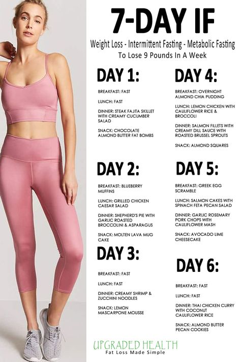 Intermittent fasting will help you lose weight and get healthy. The goal of intermittent fasting is to boost your fat-burning metabolism and send your hormones into balance. You can do this with this 7 day intermittent fasting meal plan. #intermittentfasting