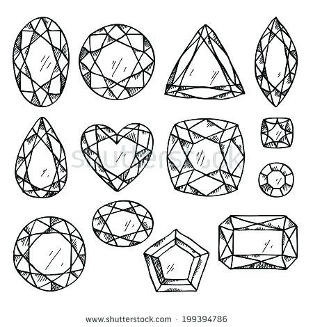Paper Gems Coloring Pages Drawings Pattern