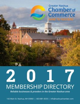 Membership Directory 2017 Cover Chamber Of Commerce Commerce Nashua