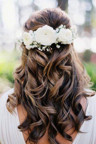 Unforgettable Wedding Hairstyles With Flowers ★ See more: https://www.weddingforward.com/wedding-hairstyles-with-flowers/2