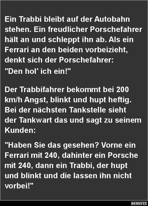 Ein Trabbi bleibt auf der Autobahn stehen.. | DEBESTE.de, Lustige Bilder, Sprüche, Witze und Videos