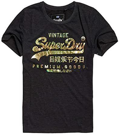 Superdry Damen Premium Goods Puff Foil Infill Entry Tee T Shirt In 2020 Hemd Shirts T Shirt