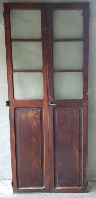 Puerta Cristalera Antigua De Segunda Mano Por 300 En Sencelles En Wallapop Cristalera Madera Antigua Puertas De Madera