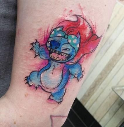 Tattoo Watercolor Quote People 68 Ideas Disney Stitch Tattoo Stitch Tattoo Lilo And Stitch Tattoo