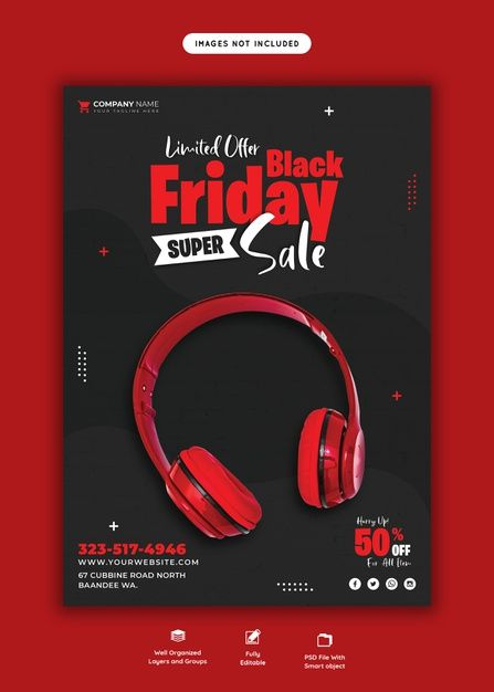 Download Black Friday Super Sale Flyer Template for free