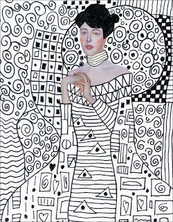 Art Projects for Kids: Klimt Template, FREE Download. Just print and add your own patterns and designs.