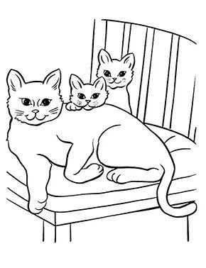 Ausmalbild Katzenfamilie Zum Ausmalen Ausmalbilder