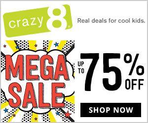 Crazy8 Up To 75 Off Sitewide Https Momswhosave Com 2017 12 Crazy8 Deals Html Deals Family Deals Shopping Sale Teacher Mom