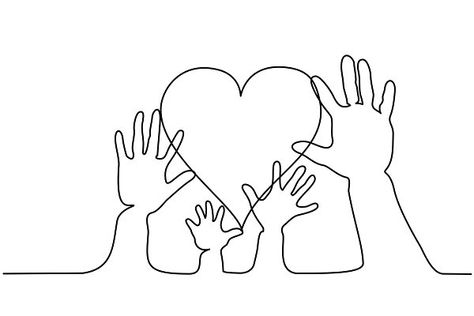 Abstract family hands holding heart… by Valenty on @creativemarket