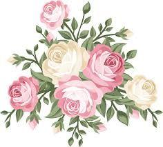 نتيجة بحث الصور عن سكرابز ورود Vector Flowers Floral Wall Decals Vintage Roses