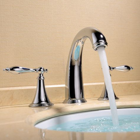Modern Chrome Finished 3 Hole Bathroom Basin Mixer Sink Faucet Taps Brass Vanity Sink Faucets Sink Bathroom Basin