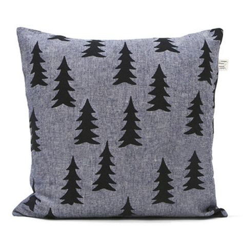 "Fine Little Day Gran/Fir Pillowcase In Grey | Scandinavian Minimall 19"" x 19"" £46.00"