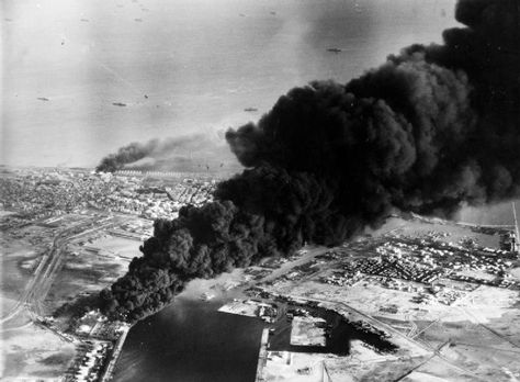 Crisi di Suez. Attacco anglo-francese a Port Said, 5 novembre 1956.
