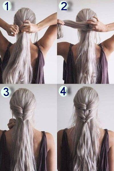 50 Unglaublich Einfache Frisuren Fur Die Schule Frauen Blog Haar Styling Medium Haare Khaleesi Haar