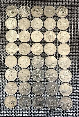 10 Roll 1999 2020 Mixed Quarters Very Fine Condition Coins No Duplicates Ebay In 2020 Old Coins Silver Dimes American Coins