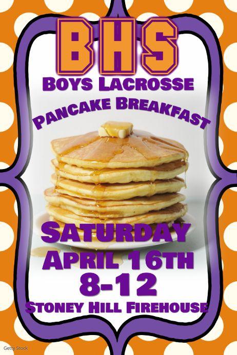 Sports Team Pancake Breakfast Fundraiser Event Flyer Poster Pancake Breakfast Fundraiser Event Flyer Breakfast Pancakes