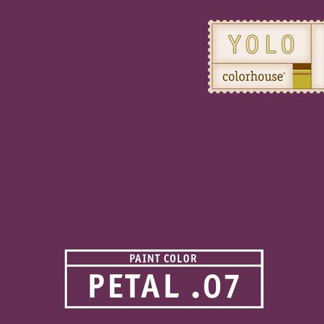 YOLO Colorhouse PETAL .07:  Rich and saturated like the inside of a beet.  Funky, flashy and fun for dining rooms and powder rooms. $35.95