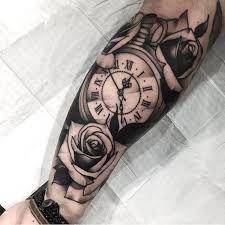Imagen Relacionada Tatuaje De Arbol Para Hombres Tatuaje Reloj Y Rosa Tatuaje De Brazalete