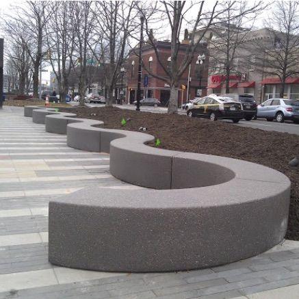 Precast Bench Radius 5116 Concrete Design Concrete Bench Seat Concrete