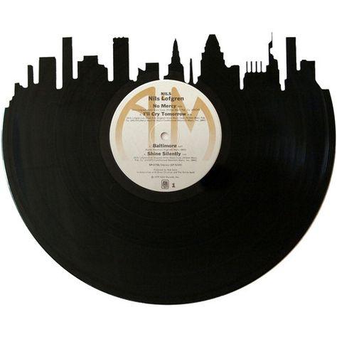 Nashville Skyline Vinyl Record Art