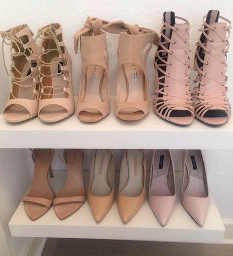 Neutral pumps, heels, and sandals.