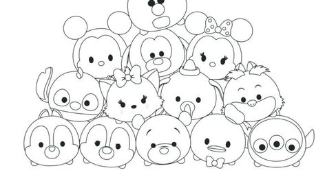 Cute Tsum Tsum Coloring Pages Tsum Tsum Coloring Pages Kids