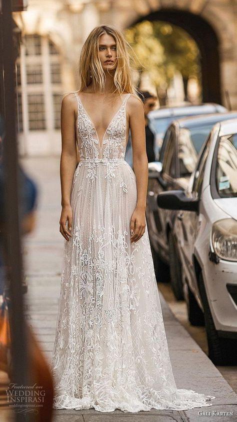 1eb98037a313 gali karten 2019 bridal sleeveless deep v neck full embellishment romantic  soft a line wedding dress backless open v back short train (2) mv fv -- Gali  ...