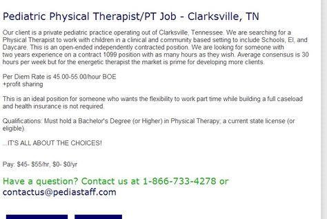 Pediatric Outpatient Physical Therapist  Fairbanks Ak  Pediastaff