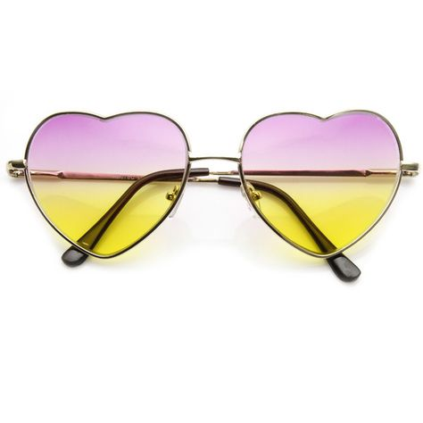 4dd7eb9b635fd Cute Metal Heart Shape Love Lolita Sunglasses 8737 ❤ liked on Polyvore  featuring accessories