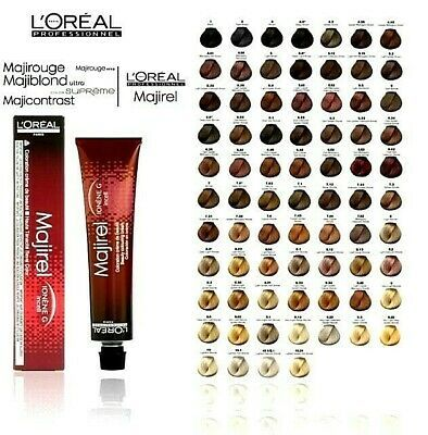 L Oreal Professional Majirel Majirouge French Brown Permanent Hair Colour 50ml Ebay In 2021 Hair Color Chart Hair Color Number Chart Loreal Hair Color