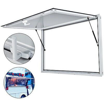 48 X 36 Concession Stand Trailer Serving Window Awning Food Truck Service Door In 2020 Window Awnings Concession Stand Forklift Safety