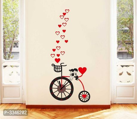 Beautifultime Bicycle And Love Heart Wall Sticker Wall Painting Decor Simple Wall Paintings Diy Wall Painting