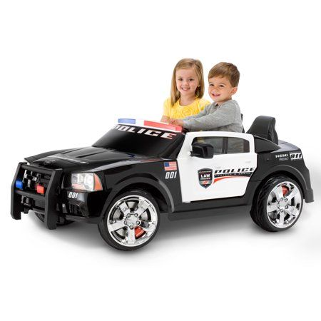 Kid Trax Dodge Pursuit Police Car 12 Volt Battery Powered Ride On Walmart Com Toy Police Cars Police Cars Kids Ride On