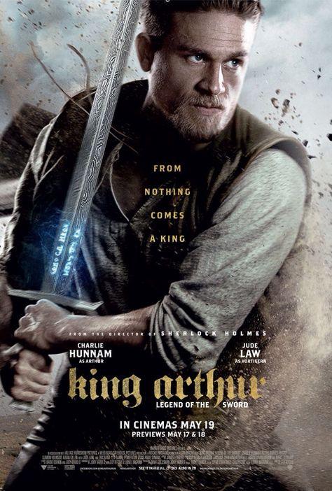 KING ARTHUR LEGEND OF THE SWORD CHARLIE HUNNAM POSTER FILM A4 A3 CINEMA MOVIE