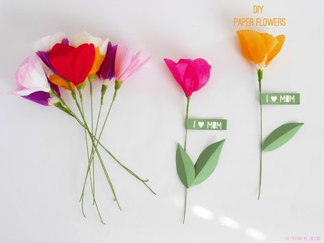 DIY  tissue paper flower by La maison de Loulou {inspired by Lia Griffith}