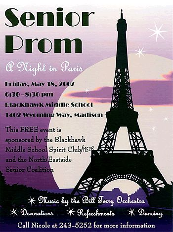 high school paris prom Why itu0027s hot Our new Paris Prom theme - prom tickets design