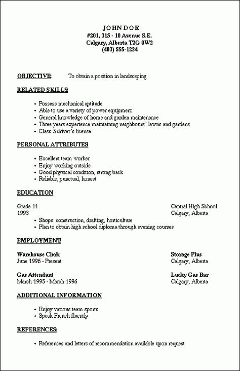 How to Create an HTML5 Microdata Powered Resume Nettuts+ Web - landscaping skills resume
