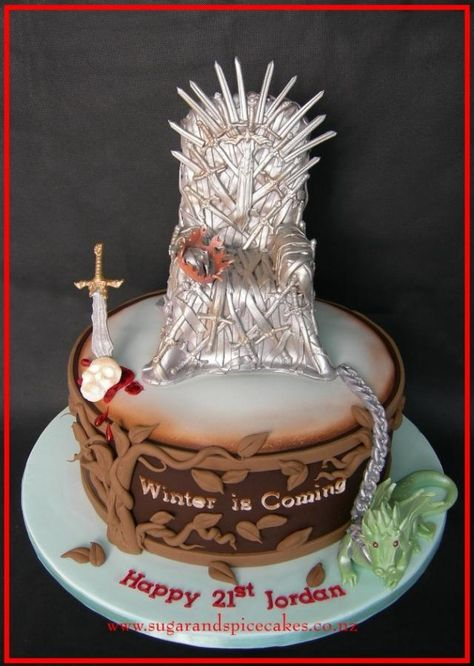 game of thrones cake Game of Thrones birthday cake Cake by