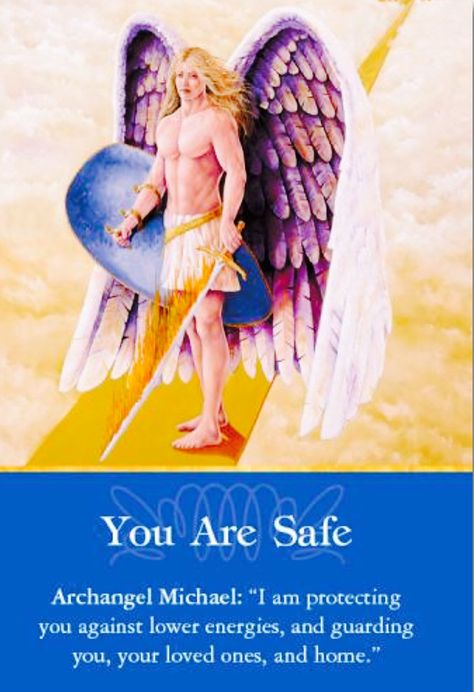 Archangel Michael the protector, This card is from the deck of Archangel Oracle cards by the wonderful Doreen Virtue Doreen Virtue, Angel Prayers, Warrior Spirit, Angel Warrior, I Believe In Angels, Angels Among Us, Angel Cards, Archangel Michael, Guardian Angels