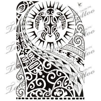Marketplace Tattoo Polynesian half-sleeve 02 #8516 | CreateMyTattoo ...
