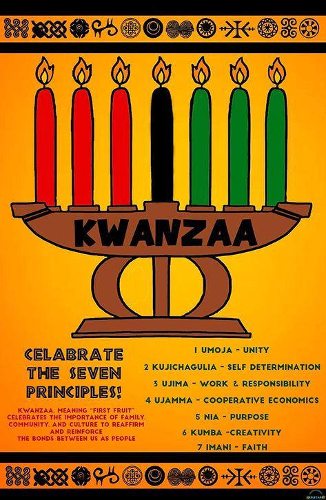 Amazon Com New 2018 Kwanzaa Poster W 7 Principles Bright Gloss