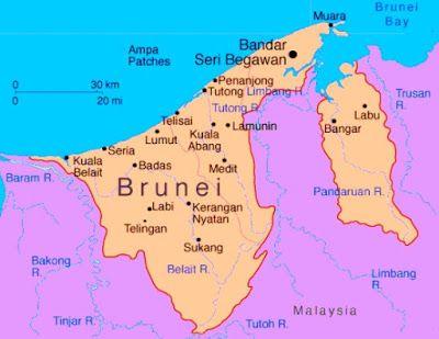 Peta Brunei Darussalam Lengkap Penyimpanan