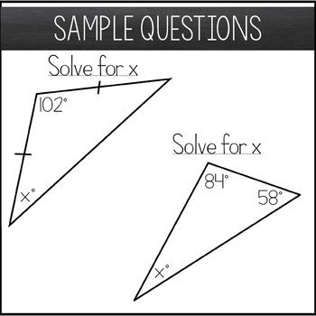 Triangle Sum Theorem Worksheet Maze Activity Theorems Triangle Math Amazing Mathematics