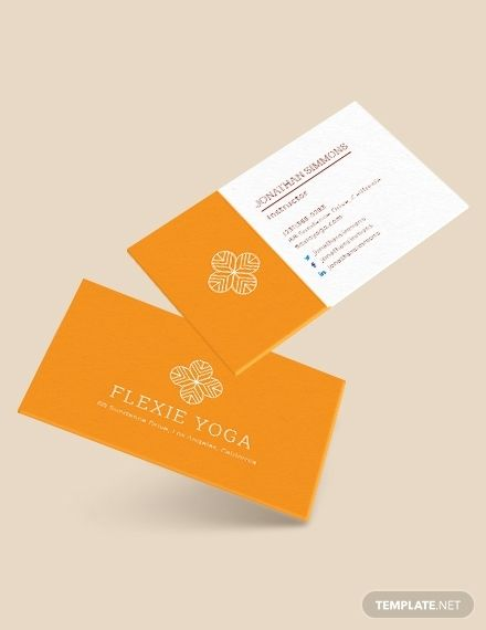 Yoga Instructor Business Card Template Word Psd Apple Pages Illustrator Publisher Teacher Business Cards Business Card Template Word Business Cards Creative Templates