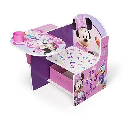 Disney Minnie Mouse Chair Desk With Storage Bin By Delta Children Walmart Com Minnie Mouse Chair Minnie Mouse Bedroom Kids Desk Chair