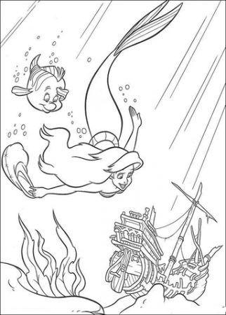 Arielle Die Meerjungfrau Ausmalbilder Disney Malvorlagen